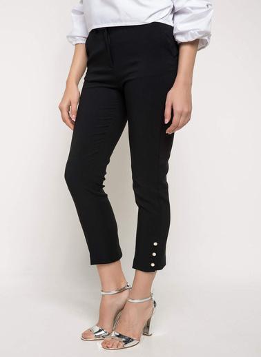 DeFacto Kısa Paça Slim Fit Pantolon Siyah